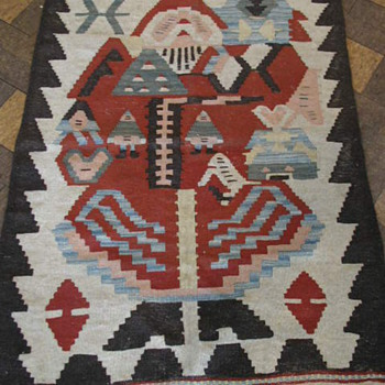 Turkish Rug Carpet SANTA CLAUS KILIM - Rugs and Textiles