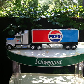Nylint Pepsi tractor trailer toy.