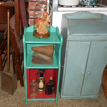 Small Floor Standing Shabby Chic Hutch