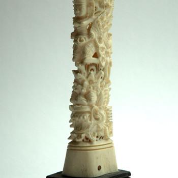 antique asian carved bone