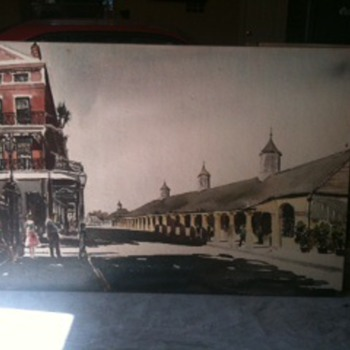 Phil Austin watercolors  3' X 6'  - Railroadiana