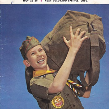 Saturday Evening Scout Post 1960 National Jamboree Colorado Springs Camp Scenes Booklet - Sporting Goods