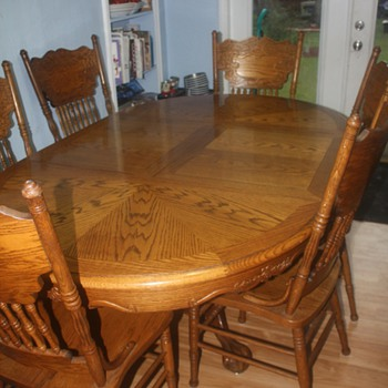 Oak Dining Table - Furniture