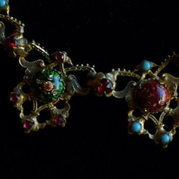 Enamel necklace - Victorian Era