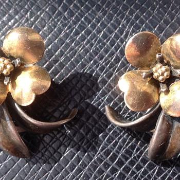 Bernard Instone Silver Earrings - Art Deco