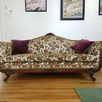 Vintage Floral Sofa - Furniture