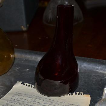 Prototype Lab Glass DuPont Ruby Glass Depression - Glassware