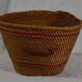 Native Basket with Bird Design - Native American