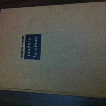 1949 Modern Furniture book by Mario Dal Fabbro - Books