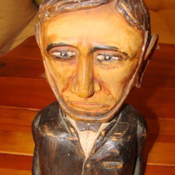 abraham lincoln wood sculpture W. M. Hole