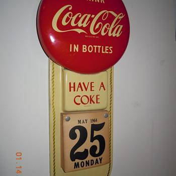 1950's Coca-Cola Calendar Sign - Coca-Cola