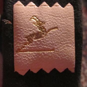 old suede tie Deer logo