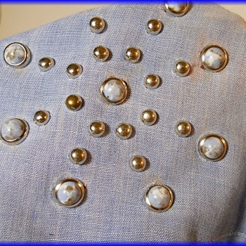 Vintage Blue Jean STUDDED Shirt ( about circa 1976 ) - Mine - Womens Clothing