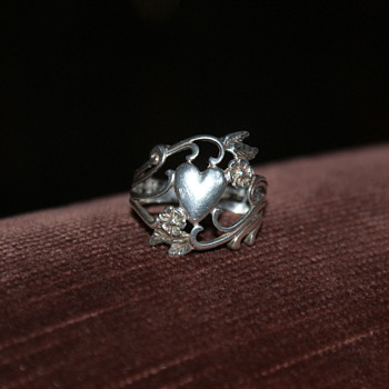Sterling Ring Marked with a Copyright Mark and OTT