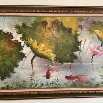 Goldfish painting - signed C. Yund?  - Fine Art