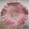 """Swirly White//Pink Scalloped Murano Bowl""""XX Century"""""""