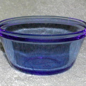 Blue Glass Custard Cups - Glassware