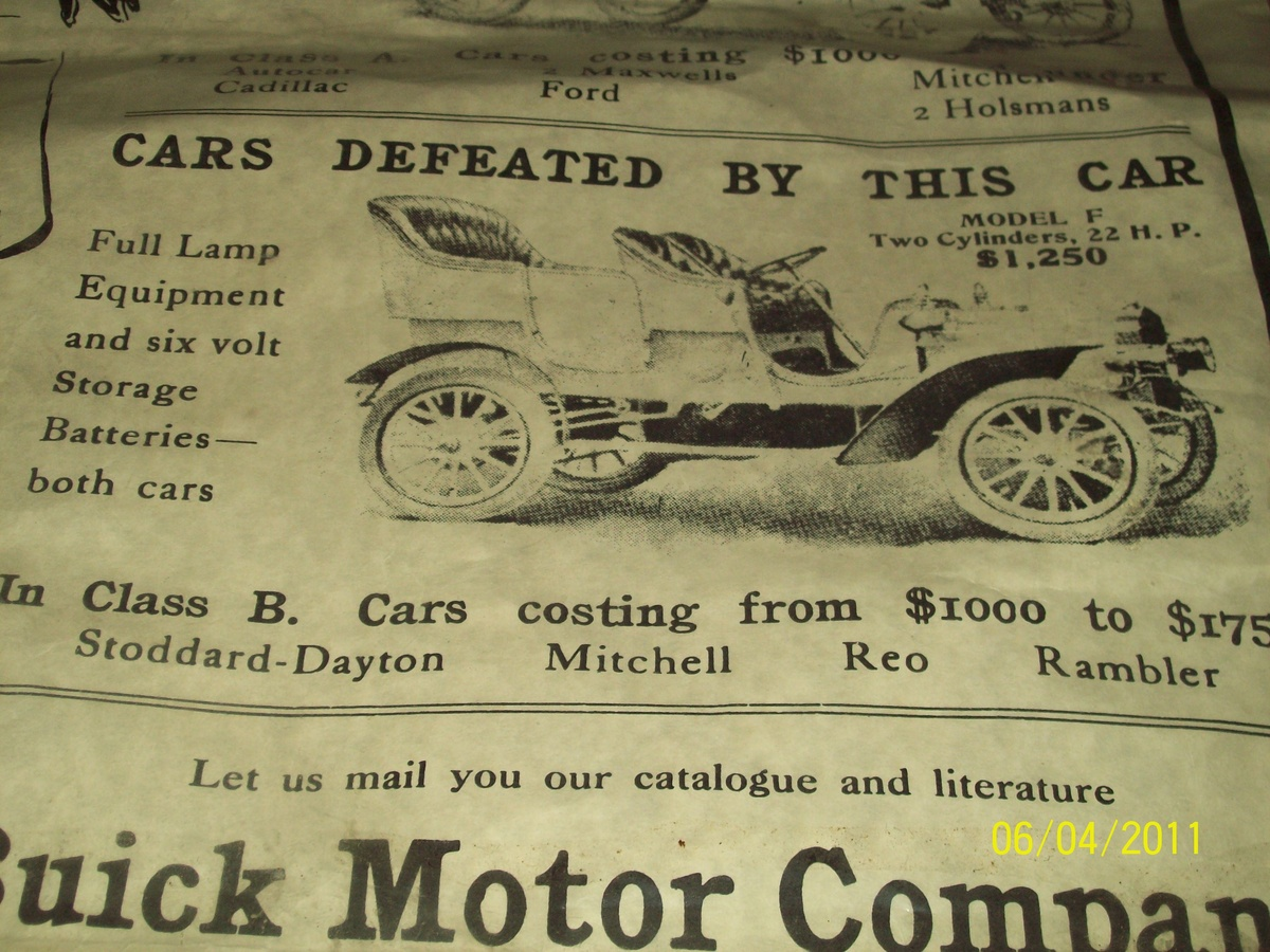 1906 buick model f and g poster | Collectors Weekly