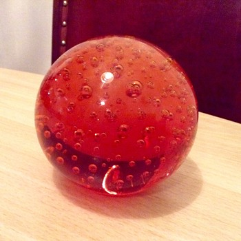 Red paperweight - Art Glass