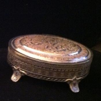 Vintage Silver trinket box marked Aurea - Fine Jewelry