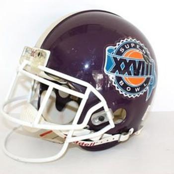 PURPLE?? XXVIII 1994 Signed & Numbered  Emmitt Smith Super Bowl Helmet