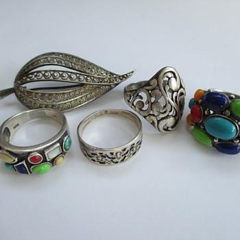 Silver jewelry - flea market find - Fine Jewelry