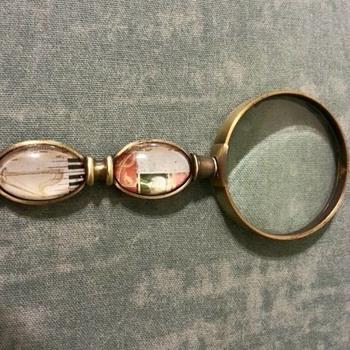 magnifying glass with Johann Sebastian Bach