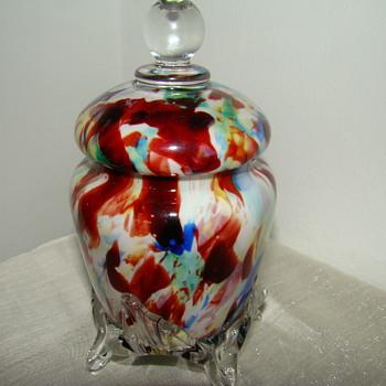 Welz lidded box - Art Glass