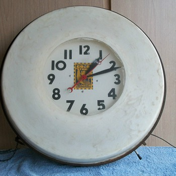 Got this clock today,needs a little work - Advertising