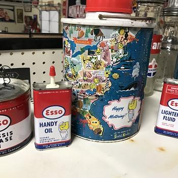 Esso oil cans  - Petroliana