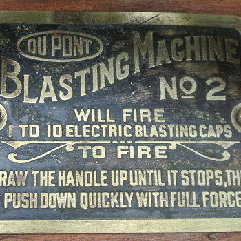 Dupont Blasting Machine....And Boom  Goes the Dynamite.... - Advertising