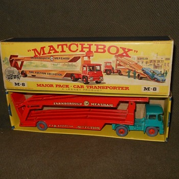 More Multiple Matchbox Monday M-8 Guy Warrior Car Transporter 1964-1966 - Model Cars