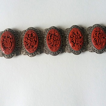 Chinese Cinnabar Bracelet - Fine Jewelry