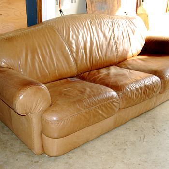 goodwill leather couch