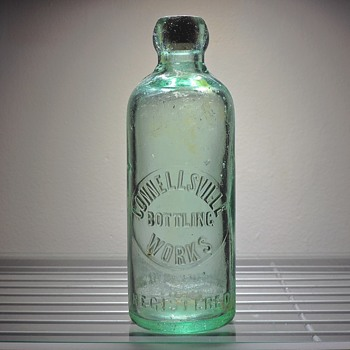 Connellsville Bottling Works Soda Blob Top Embossed MB&G Massillon Bottle & Glass Company Antique Vintage Hutchinson - Bottles