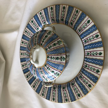 Unknown antique Handpainted  porcelain dish set - China and Dinnerware