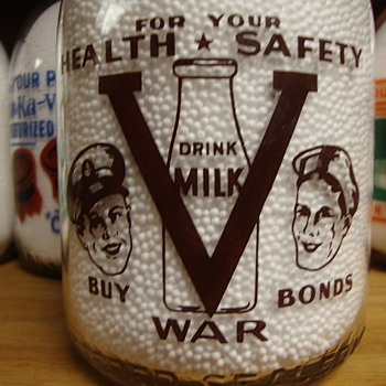 NORTHAMPTON DAIRY...NORTHAMPTON PENNSYLVANIA...WAR SLOGAN - Bottles