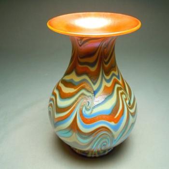 Victor Durand King Tut Vase c. 1925 - Art Glass