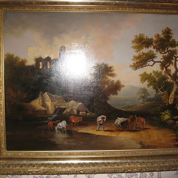 Antique Hudson River Painting Unknown Artist  - Fine Art