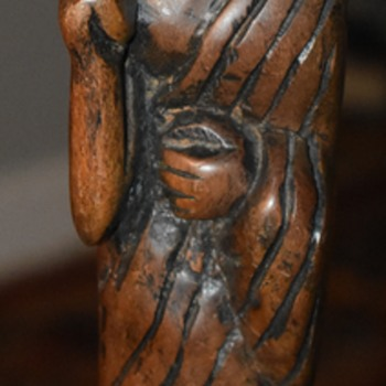 Carved Wood Buddhist Monk Figure - Very unusual! - Asian