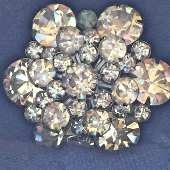 Vintage Rhinestone brooch, not signed, who made it? - Costume Jewelry
