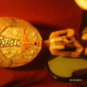 wood carved fertility goddess - Dolls