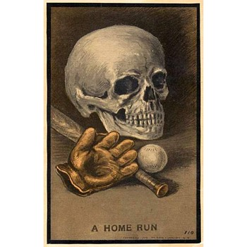 "1910 Oddly Satiric Baseball Theme Postcard Entitled ""A Home Run"" - Postcards"