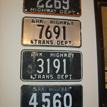 A.H.T.D. (Arkansas Highway and Transportation Dept.) license plates