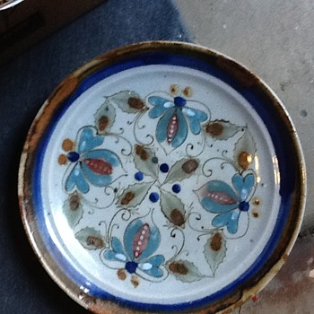 Mexican hand painted dishes