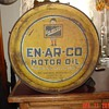 EN-AR-CO Motor Oil...Five Gallon Oil Rocker Can...White Rose Gasoline