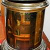 Antique Tin Canister  Pastoral Scenes
