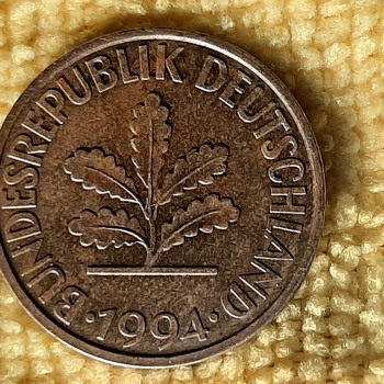 Germany 1994 (g) 10 Pfennig Coin - World Coins