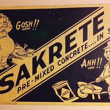 SAKRETE masonry mix sign - Signs