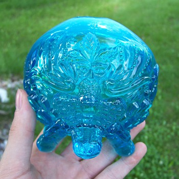 Sowerby Glass Piasa Bird Rose Bowl - Art Glass